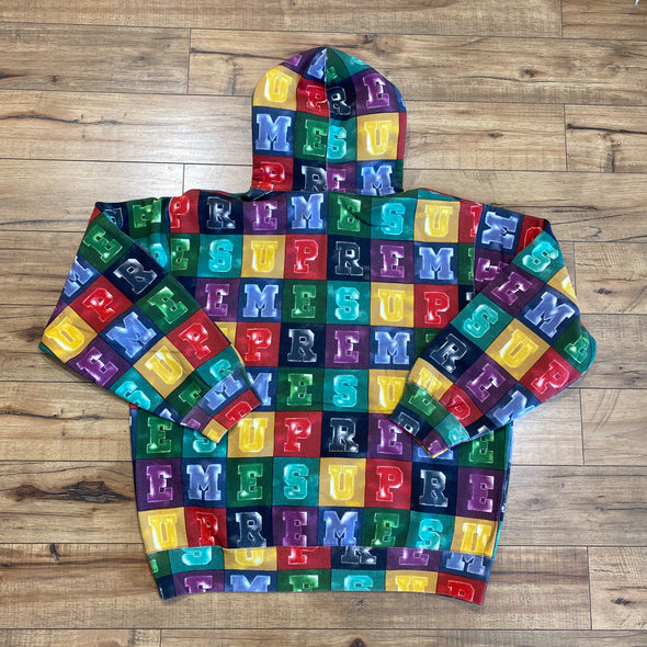 Supreme Blocks Hooded Sweatshirt Multicolor
