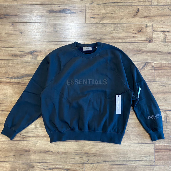 FEAR OF GOD ESSENTIALS 3D Silicon Applique Crewneck Black
