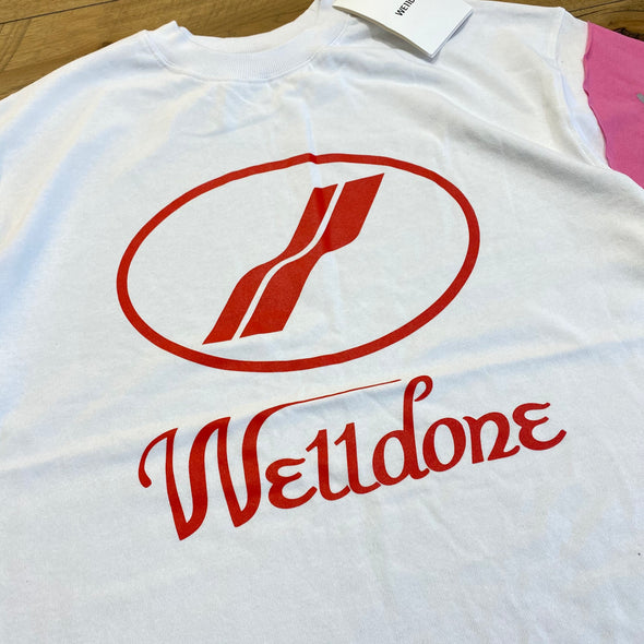 We11done Colour Sleeve L/S Tee (White/Red)
