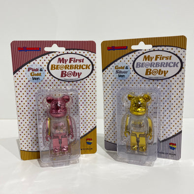 My First Be@rbrick Baby Set 100% (Pink and Gold)