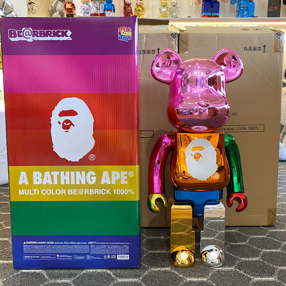 Bape 25th Anniversary Multi-Colored Foil BE@RBRICK (1000%)