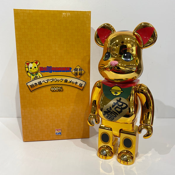 Be@rbrick Beckoning Cat Gliding 400% Gold