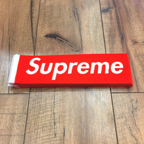 Supreme Felt Box Logo Sticker (Red)