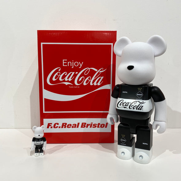F .C. Real Bristol x Coca-Cola BE@RBRICKS 400% Set