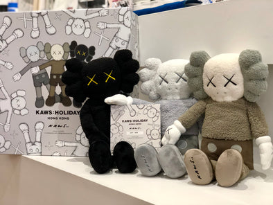 "KAWS HOLIDAY Hong Kong Limited 20"" Plush Set With Box"