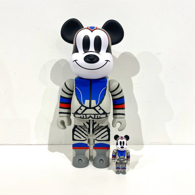 Be@rbrick x Billionaire Boys Club x Mickey Mouse Astronaut 100% & 400% Set