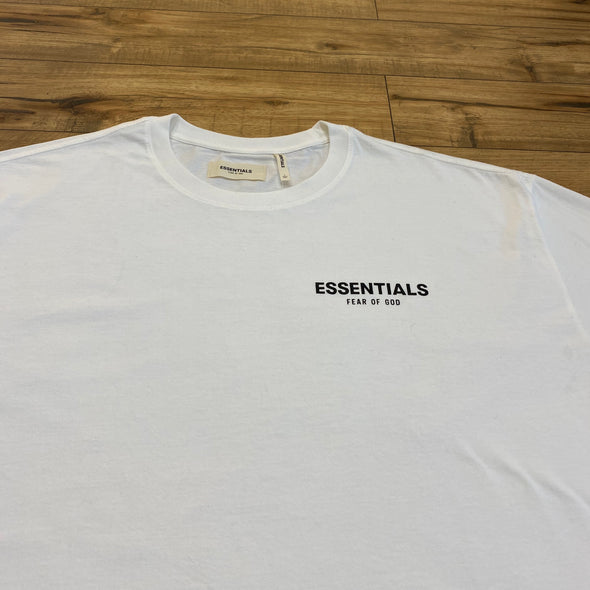 FEAR OF GOD ESSENTIALS Boxy Logo Short Sleeve Tee (White)