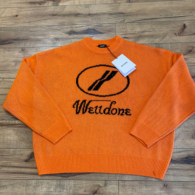 We11done Orange Logo Joo Sweater