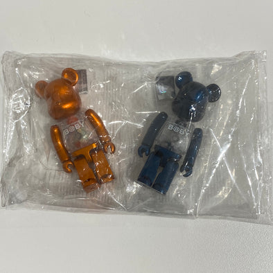 My First Be@rbrick Baby Set 100% (Bronze and Metallic Blue)