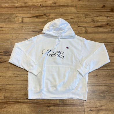 """NO OTHER GODS""/Champion ""Party Dad"" Hoodie White"