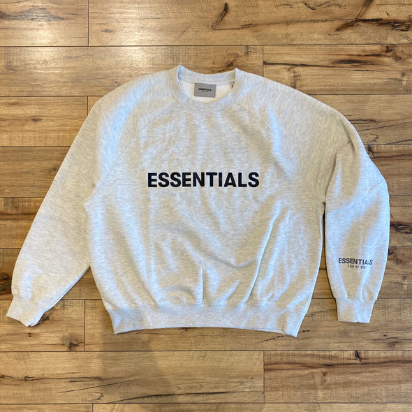 FEAR OF GOD ESSENTIALS 3D Silicon Applique Crewneck Grey