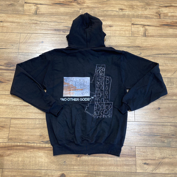 """NO OTHER GODS""/Champion ""Party Dad"" Zip Up Hoodie"
