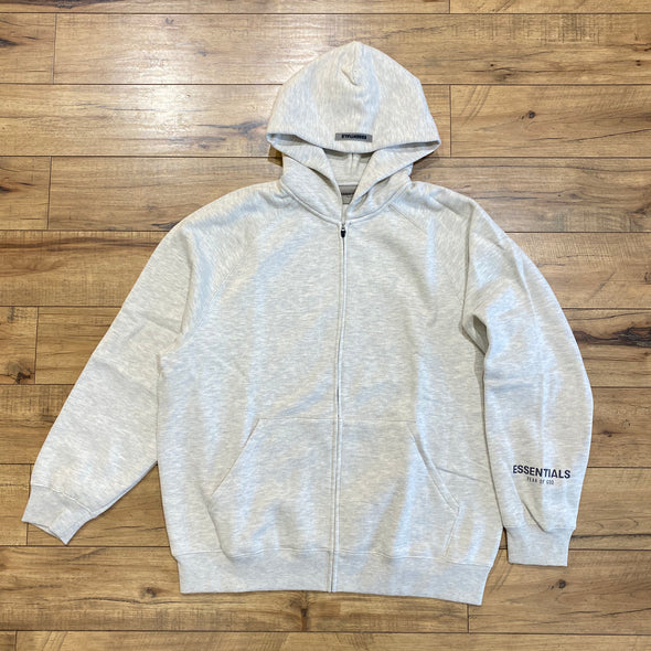 FEAR OF GOD ESSENTIALS Grey Zip-up Hoodie