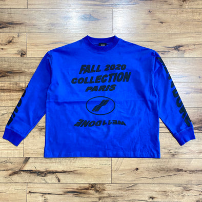 We11done Blue 'PF20' Long Sleeve T-Shirt