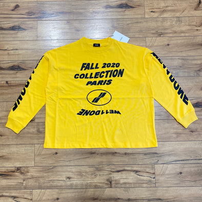 We11done Yellow 'PF20' Long Sleeve T-Shirt
