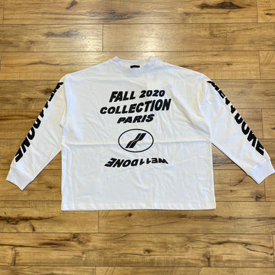 We11done White 'PF20' Long Sleeve T-Shirt