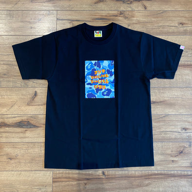 BAPE x Anti Social Social Club ABC Camo Box Tee Black/Blue