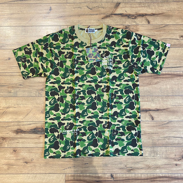BAPE x Anti Social Social Club ABC Camo Tee Green