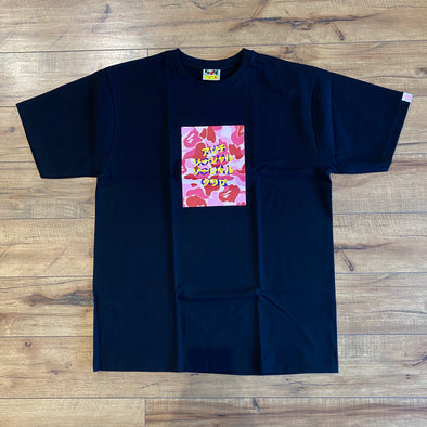BAPE x Anti Social Social Club ABC Camo Box Tee Black/Pink
