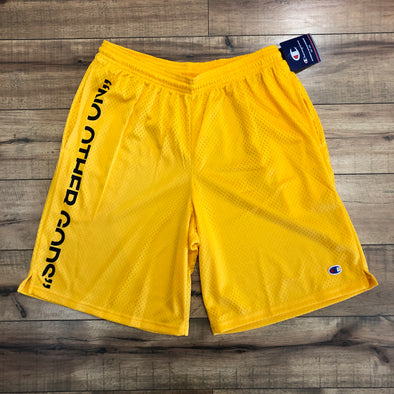 """NO OTHER GODS"" - Champion Mesh Short (Yellow)"