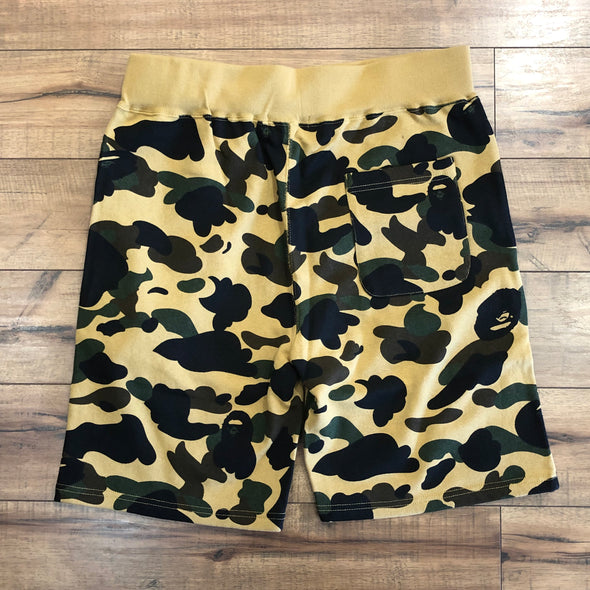 Bape 1st Camo Sweat Shorts (Yellow)