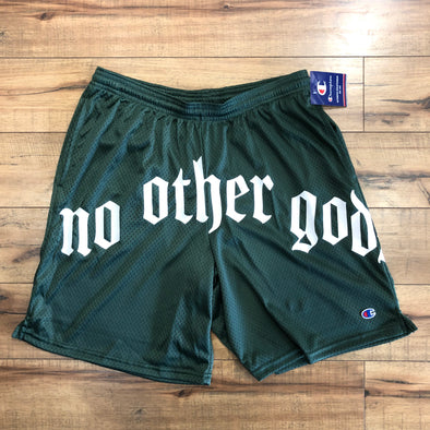 """NO OTHER GODS"" - Arc Logo Champion Mesh Short (Green)"