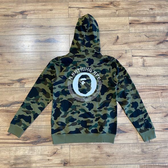 Bape Green Camo Pullover Hoodie