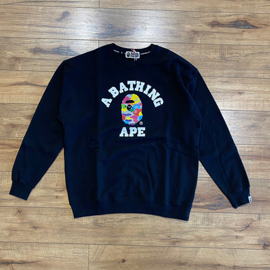 Bape milo College Crewneck (Black)