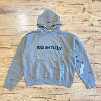 FEAR OF GOD ESSENTIALS 3D Silicon Applique Hoodie Charcoal