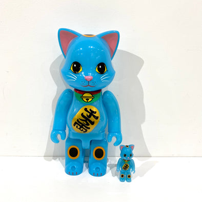 Be@rbrick Lucky Cat Blue 400%