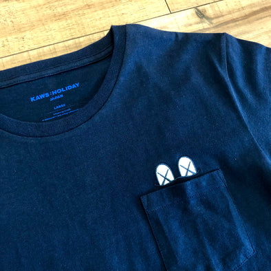 Kaws Holiday Japan T-Shirt - Pocket (Navy)