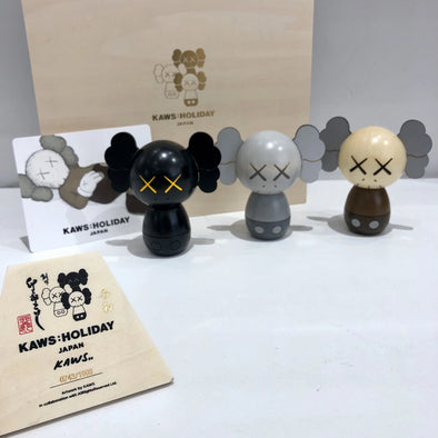 Kaws Holiday Japan Limited Kokeshi Doll Set (Set of 3)