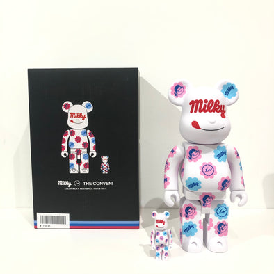 fragment design x The Conveni x 不二家 MILKY BE@RBRICK 100% & 400%