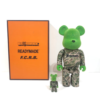 Be@rbrick x Readymade x FCReal Bristol 100% & 400% Set Green Multicolor
