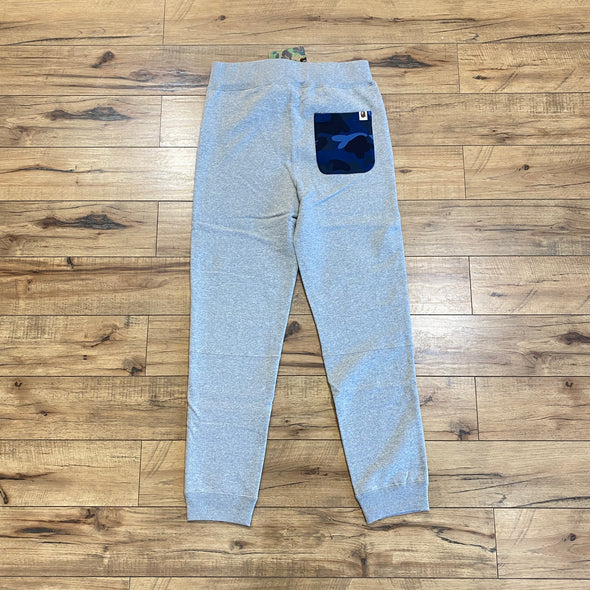 Bape Shark Slim Sweatpants (Grey/Blue)