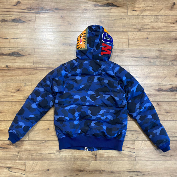 Bape Color Camo Shark Down Jacket (Navy)
