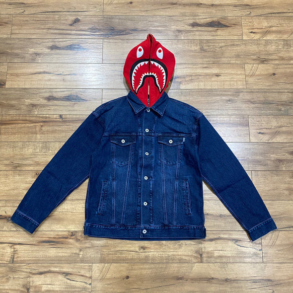 Bape Shark Denim Jacket (Navy)