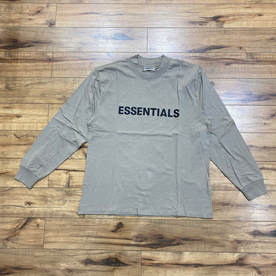 FEAR OF GOD ESSENTIALS Black Logo Long Sleeve T-shirt (Moss)