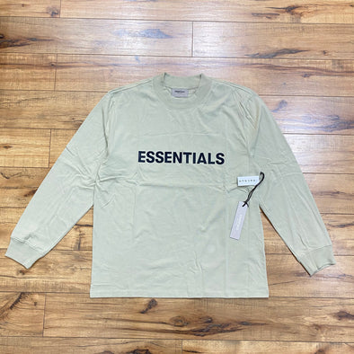 FEAR OF GOD ESSENTIALS Black Logo Long Sleeve T-shirt (Sage)