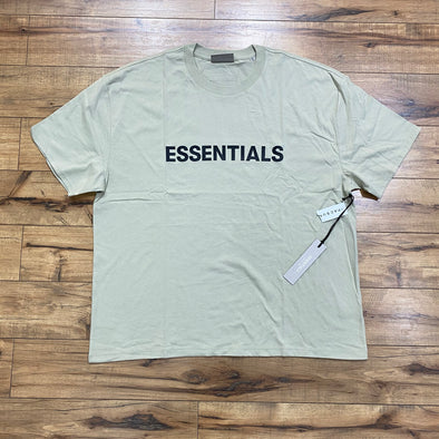 FEAR OF GOD ESSENTIALS 3D Silicon Applique Boxy Tee (Sage)