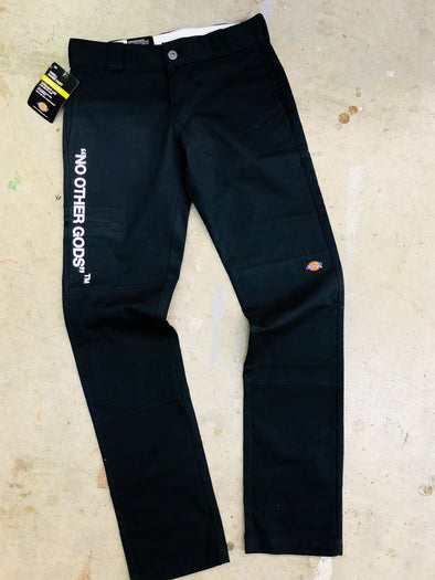 """NO OTHER GODS""  Dickies Skinny Straight Pants"