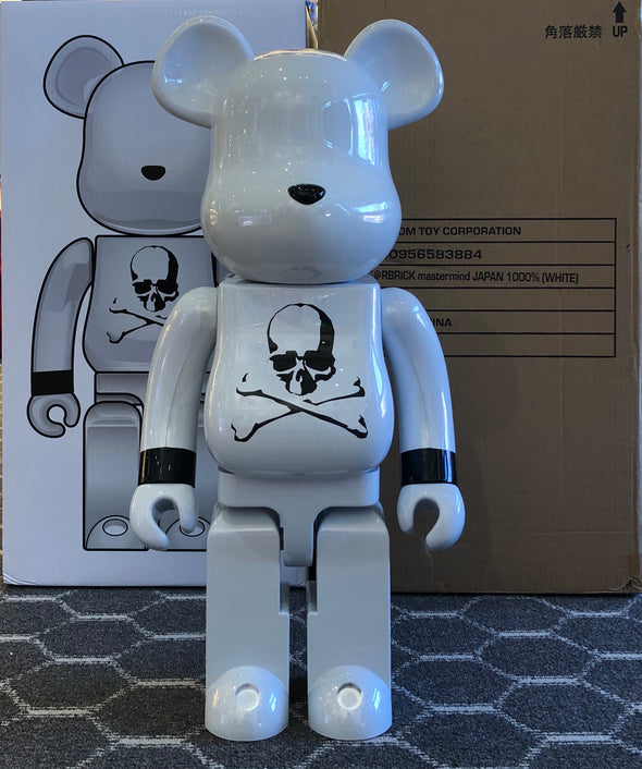 Be@rbrick x Mastermind Japan 1000% (white)