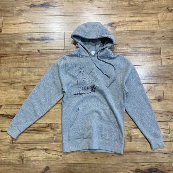 """NO OTHER GODS""/ ""Party Dad"" Hoodie Grey"