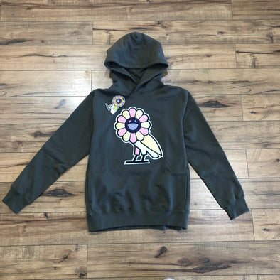 Takashi Murakami x OVO Surplus Flower Owl Hoodie Heather Green
