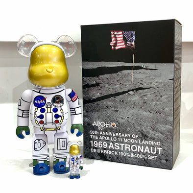 Bearbrick Apollo 11 50th Ann. Be@rbrick 1969 Astronaut