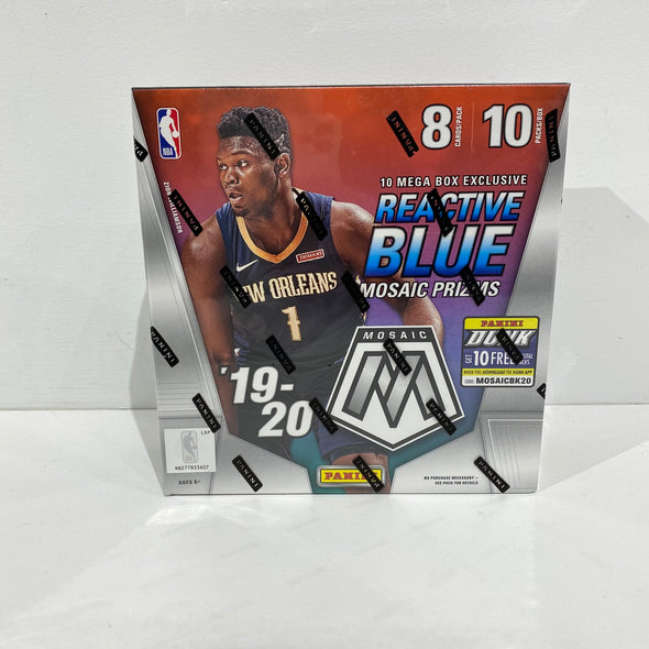 2019-2020 Panini mosaic Basketball Cards Reactive Blue (10pack/8cards)