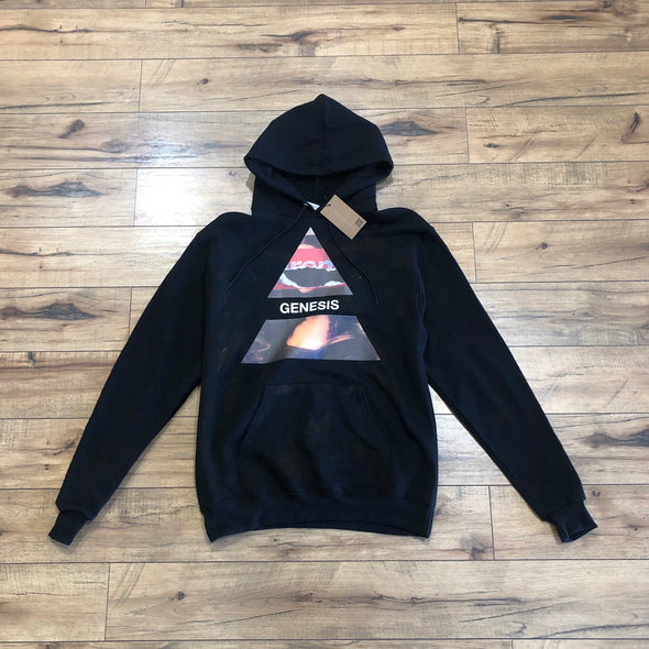 "NO OTHER GOD""/Champion ""I'm an artist""triangle damaged mona lisa hoodie"