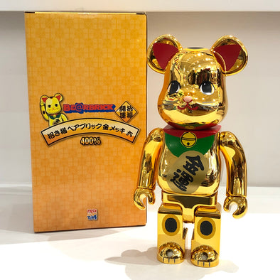 Gold Lucky Cat Neko 2 400% Be@rbrick