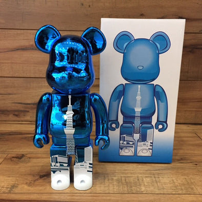 Sky Tree Metallic Light Blue Tower 400% Be@rbrick