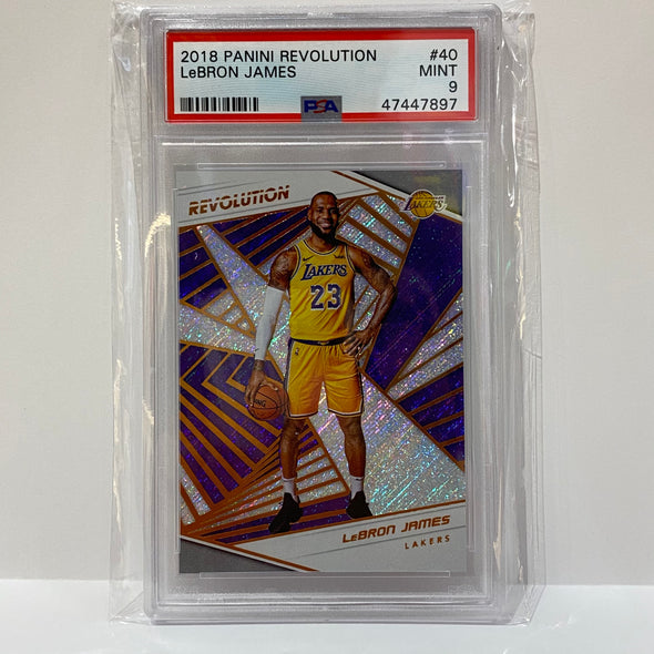 2018 Panini Revolution Lebron James #40 PSA 9